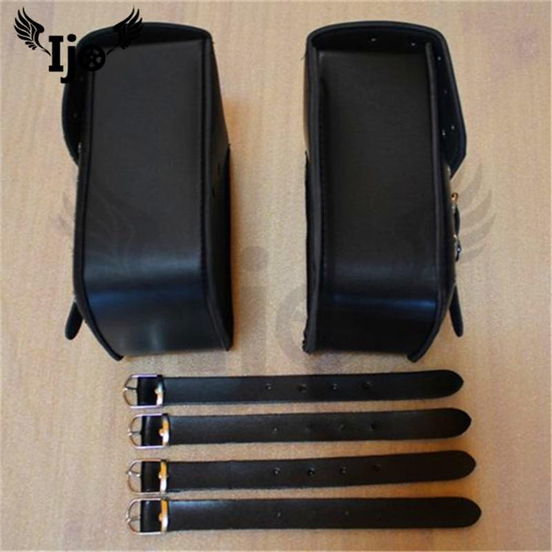 motorbike saddle bag classic black for honda shadow hyosung Harley Davidson maletas moto bags alforjas para moto motorcycle bag