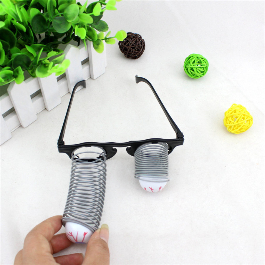 2016 Cosplay Trick Funny Glasses for Halloween April Fool's Day Children's Day Trick Joke Toy Kid's Gift Free Shipping image