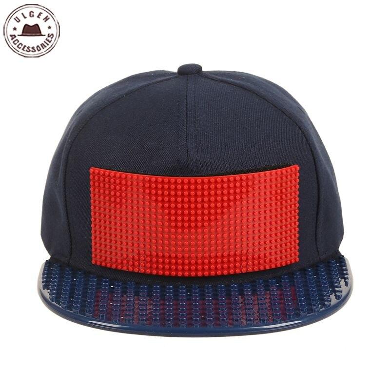 New customize Legos   cap   high quality blocks bricks DIY legos   baseball   hat cool trucker snapback hat for men and women detachable