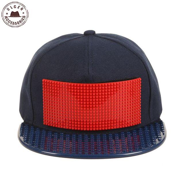 New customize cap alta qualidade blocos tijolos Legos DIY legos legal chapéu do camionista boné de beisebol snapback chapéu para homens e mulheres destacável