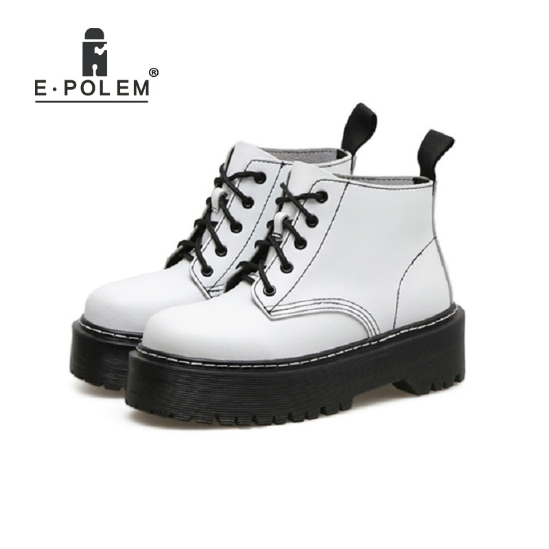 Gothic Steam Punk Rock Martin Boots Platform Shoes Botte Femme Thick Sole Motorcycle Boots Women Botas Femininas De Inverno 2018 женские блузки и рубашки hi holiday roupas femininas blusa blusas femininas