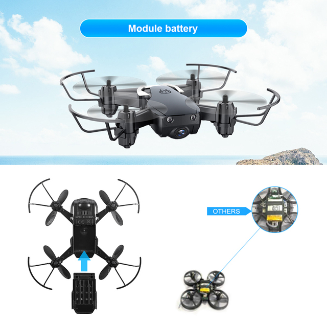 Eachine E61/E61hw Mini Drone With/Without HD Camera Hight Hold Mode RC Quadcopter RTF WiFi FPV Foldable Helicopter VS HS210 6