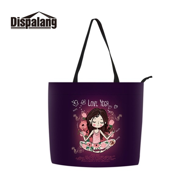 e09edfd4165a Dispalang Chinese Factory Long Handle Cotton Woven Shopper Casual Lager  Capacity Tote Bag for Girl College