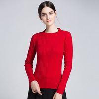 2017 Autumn And Winter New European American Women S Wear Round Neck Knit Sweater Female Long