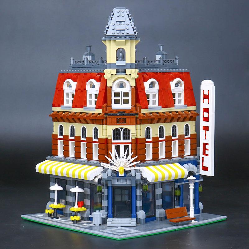 L Models Building toy Compatible with Lego L15002 2133pcs Cafe Corner Blocks Toys Hobbies For Children Model Building Kits кронштейн north bayou t3260 для жк тв 32 60 потолочный высота 900 1500мм наклон 20° 2° поворот 360° vesa 400x600 до 45 5 кг серебристый