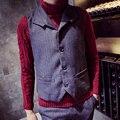 mens vest men 2017 fashion vintage retro finishing exquisite all-match autumn and winter small vest formal mens vests