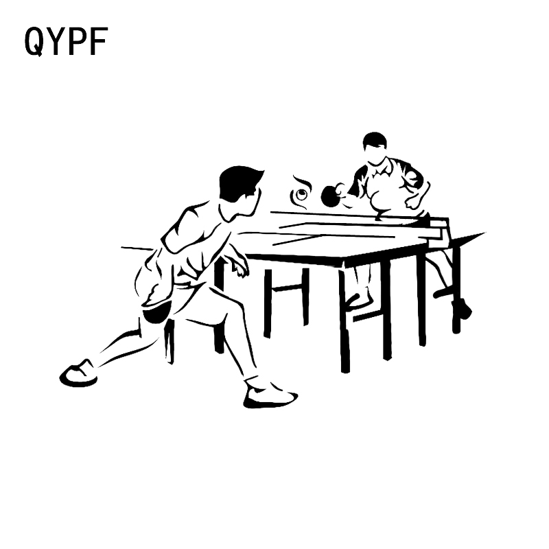 QYPF 16.5*10.7CM Ping Pong Sport Vinyl Decor Car Sticker Extreme Movement C16-1328