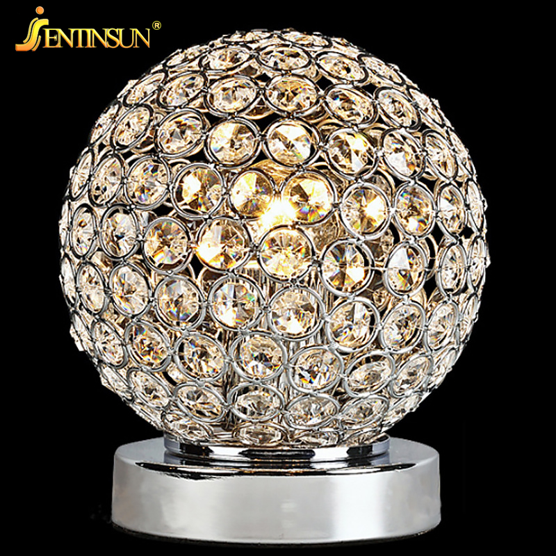 Luxury Table Lamp Bedside Bedroom Night Light Modern Crystal LED Desk Lamps for Study Living Room Indoor Lighting Decoration цена 2017