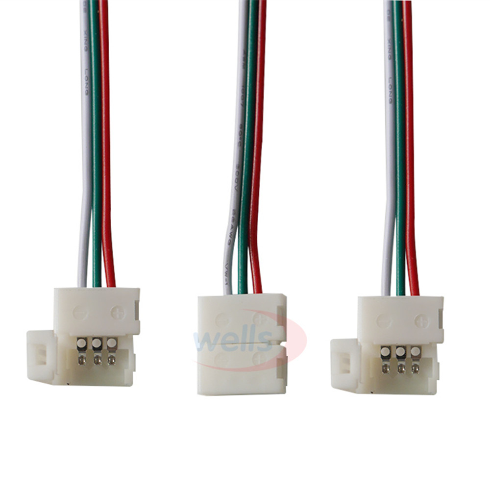 5 pcs 2pin 3pin 4pin <font><b>RGB</b></font> <font><b>Connector</b></font> 15CM <font><b>Cable</b></font> For 5050 WS2811 WS2812B <font><b>3</b></font> <font><b>pin</b></font> LED Strip image