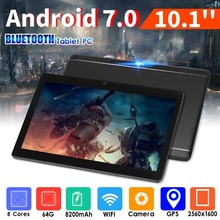 10.1 Tablet PC 3G Network Call HD 800*1280 IPS 3500mAh Battery Android 7.0 Bluetooth WiFi 0.3MP+2MP Dual Camera Tablet dl66 hd network pc camera