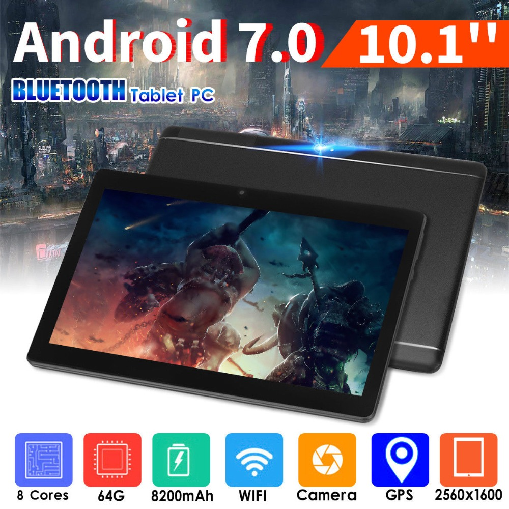 10.1 Tablet PC 3G Network Call HD 800*1280 IPS 3500mAh Battery Android 7.0 Bluetooth WiFi 0.3MP+2MP Dual Camera Tablet