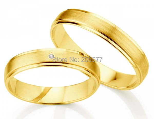 anel ouro 100% pure titanium Jewelry 2014 new design gold plating his and hers engagement wedding ring pair jimmy choo 100 мл jimmy choo jimmy choo 100 мл