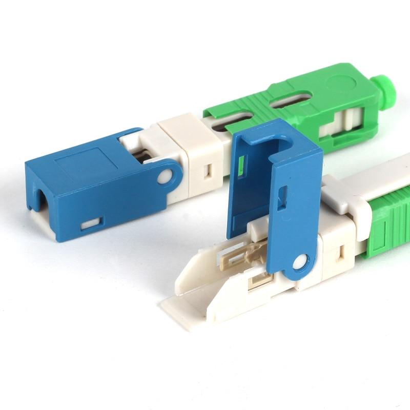 100PCS FTTH SC APC Optical fibe quick connector SC APC FTTH Fiber Optic Fast Connector 100PCS FTTH SC APC Optical fibe quick connector SC APC FTTH Fiber Optic Fast Connector
