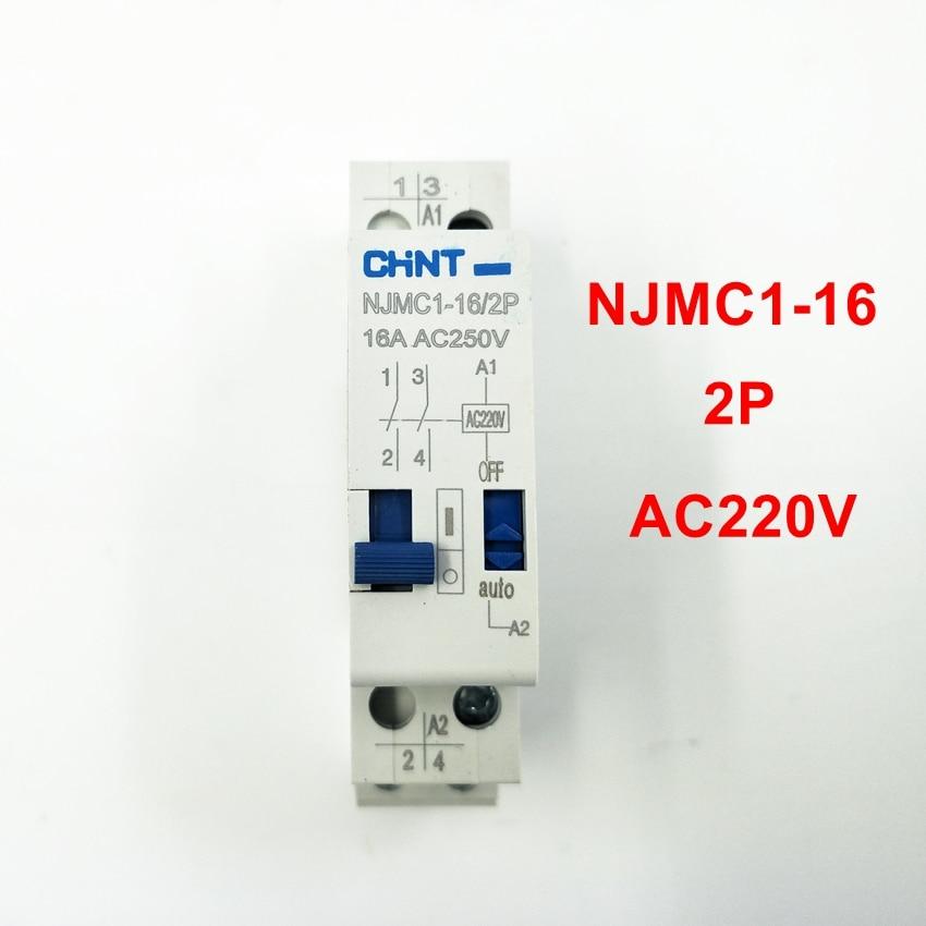 CHINT Pulse Relay NJMC1-16/2P 16A AC220V Relay