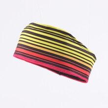 Rainbow Running bright colours reflective material Comfortable Elastic Color Headband absorb sweat Sport Head Sweatband