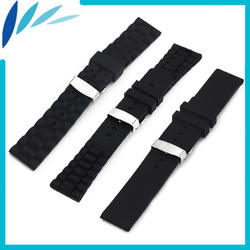 Силиконовой резины Смотреть Band 20 мм 22 23 для Omega ремешок на запястье петли ремня браслет черный + Весна Бар инструмент
