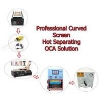 Professional изогнутый экран горячей разделения OCA решение включает клей для удаления OCA ламинатор пузырь машина для удаления пены