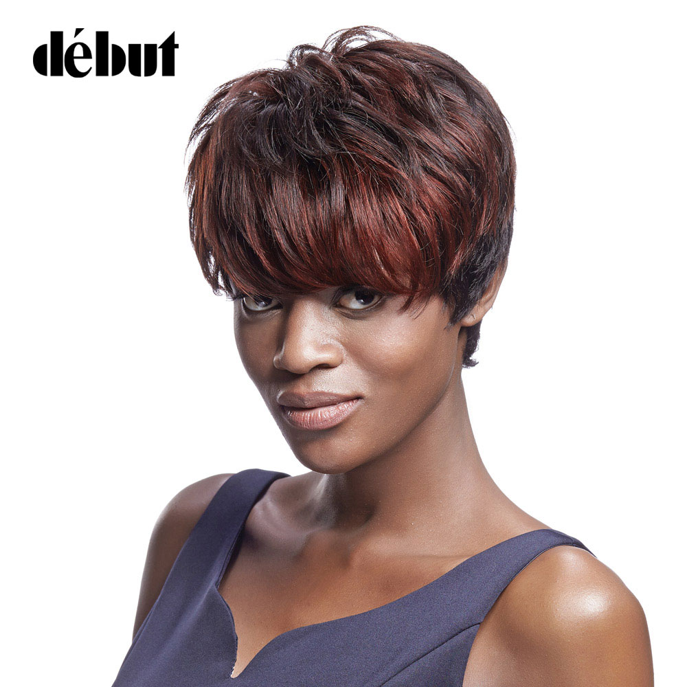 Debut Straight Remy Ombre Human Hair Wig Color DYP1B/33B/33A Blonde Brazilian Short Bob Wigs For Black Women Free Shipping