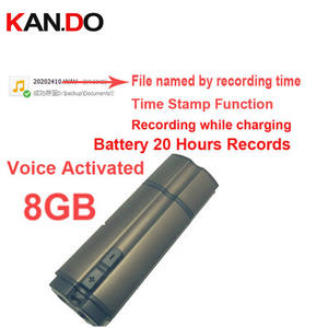 Flash-Disk Audio-Recorder Voice-Activated by 50pcs S6-8g File-Name Time-Stamp USB 20H