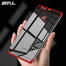 For Huawei P9 Plus Case Cover Transparent Plating TPU Soft Silicone Back Phone Coque Fundas