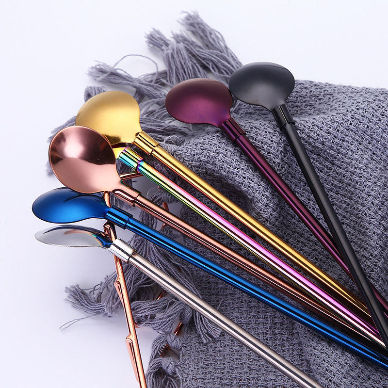 Stainless Steel Drinking Straw Spoon Filter Mate Straws Gourd Reusable Tools Practiacl Washable Bar Accessories (8)