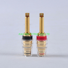 1Pair Speaker Cable Tube Amp Terminal Binding post Long Brand New Red and Black