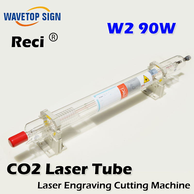 free shipping Reci W2 90W CO2 Laser Tube Wooden  Box Packing  tube Length 1200mm Diameter 80mm free shipping reci w2 90w co2 laser tube wooden box packing tube length 1200mm diameter 80mm