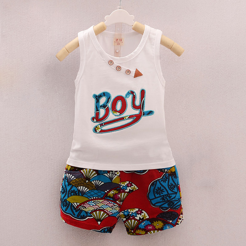 297aed899db8 BibiCola Summer Baby boys Clothing Set Cartoon boys top Vest+shorts ...