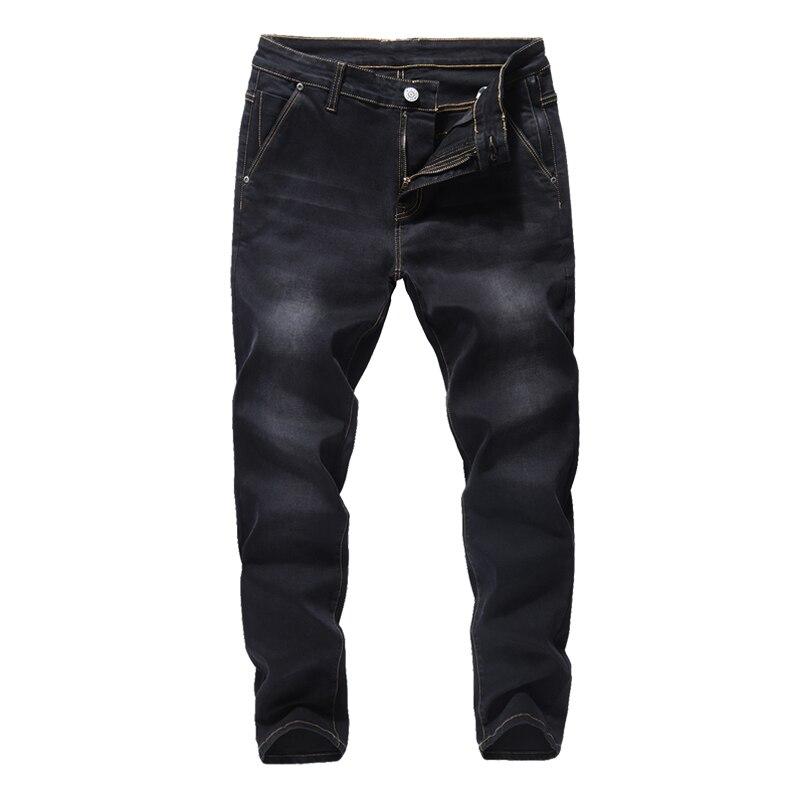 Elastic Anti-theft Zipper Denim Pants