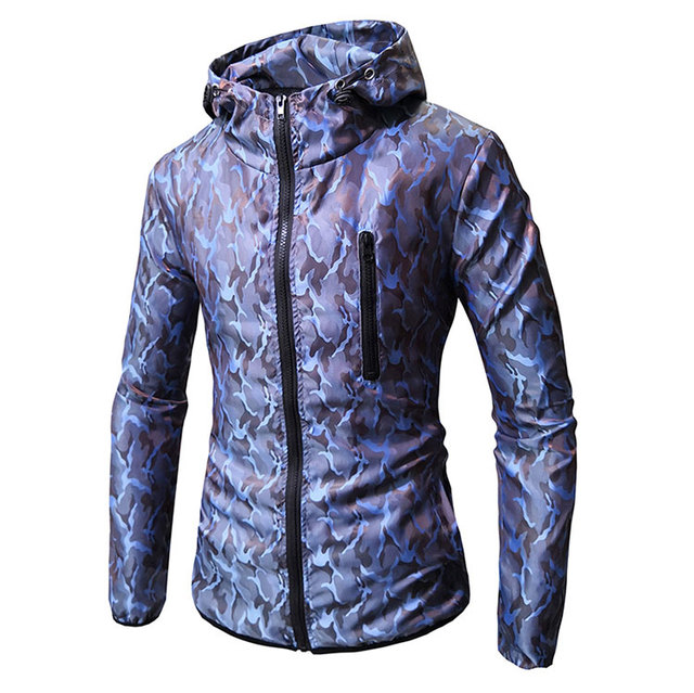 Mens Spring Autumn Jackets Mens New Fashion Casual Straight Military Print Camouflage Jacket Coats High Quality Male Outerwear