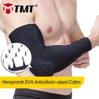 TMT Crashworthy honeycombed Gasket Lycra Cloth Running Cycling Arm Sleeves Guard Sports Safety Protection Elbow Pads Arm Warmers