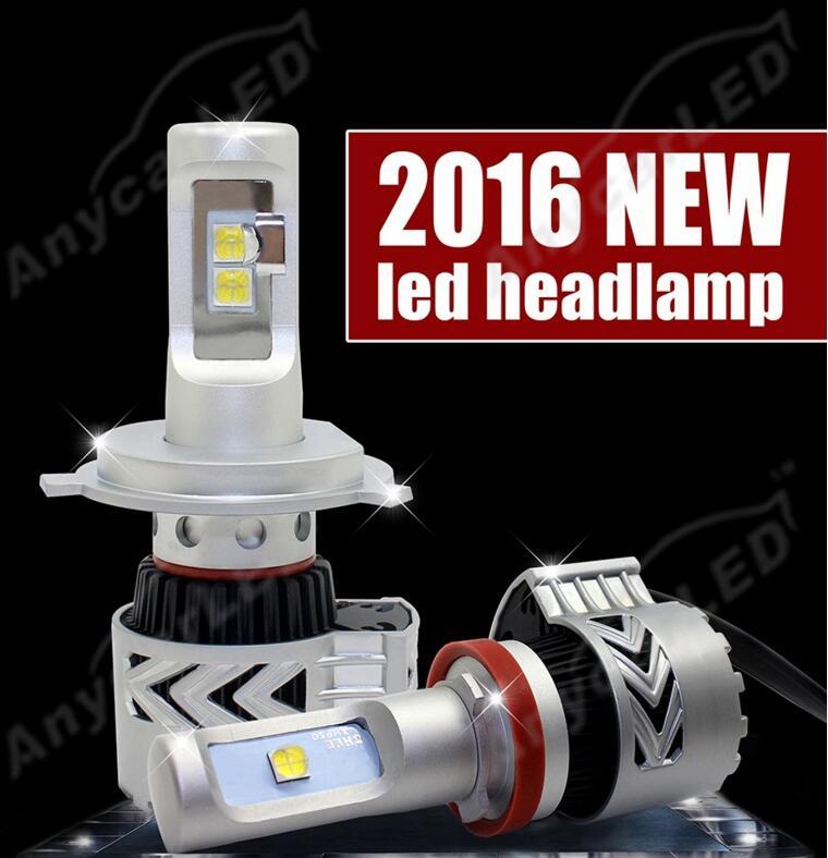 1 Set H4 HB2 9003 80 W 12000LM G8 LED Headlight Kit XHP-50 4LED SMD - Lampu mobil - Foto 3