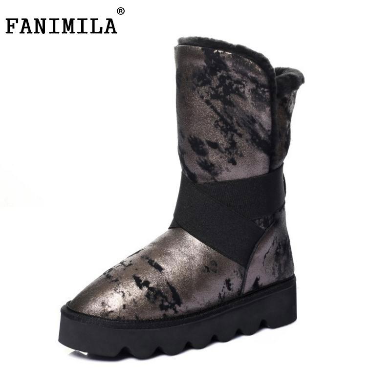 Snow Boots Women Half Knee Boot Real Genuine Leather New Fashion Keep Warm Fur Round Toe Shoes Woman Flats Shoes Size 33-43 snow boots women half knee boot real genuine leather new fashion keep warm fur round toe shoes woman flats shoes size 33 43