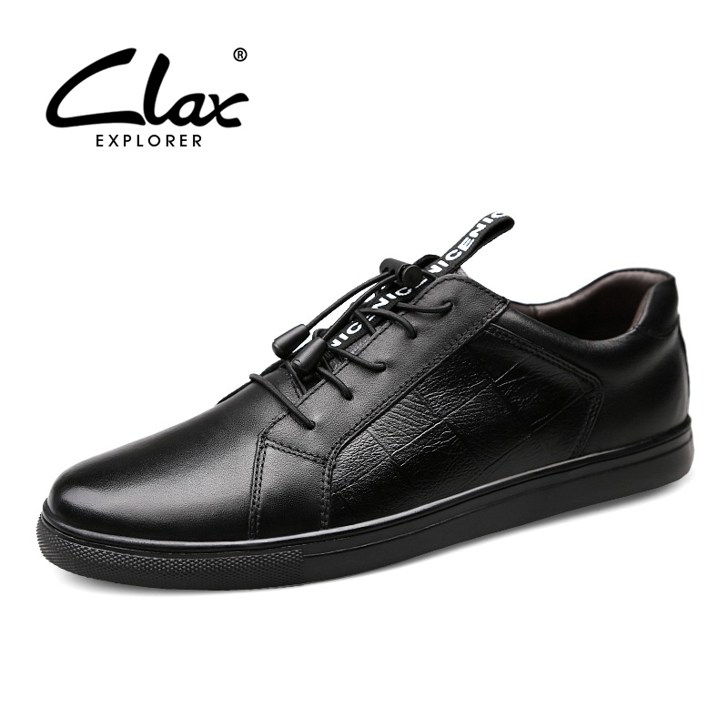 CLAX Men 39 s Shoes 2019 Spring Autumn Male Leather Shoe Genuine Leather Walking Footwear Designer Fashion Man Casual Shoe Soft in Men 39 s Casual Shoes from Shoes