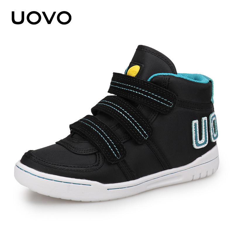 UOVO 2018 New Arrival Children Casual Shoes Boys And Girls Sneakers Mid-Cut Fashion Kids School Shoes Kids Footwear Size #28-38 designer shoes for boy