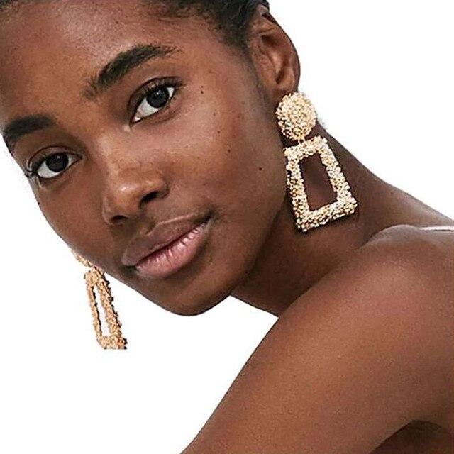 Boucles d'oreilles géométrique métal