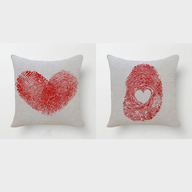 ᑎ‰Rojo romántico amor corazón algodón Lino Fundas de colchón ...