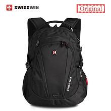 Swisswin hombres mochila 28l 13.3 14 15 mochila portátil impermeable bolsa con la tableta de bolsillo fresco mochila para adolescentes mochila