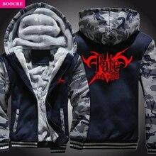 BOOCRE 2017 Arrival Winter Warm Fate Zero Hoodies AnimeFate Stay Night Hooded Coat Thick Zipper Men Cardigan Jacket Sweatshirt