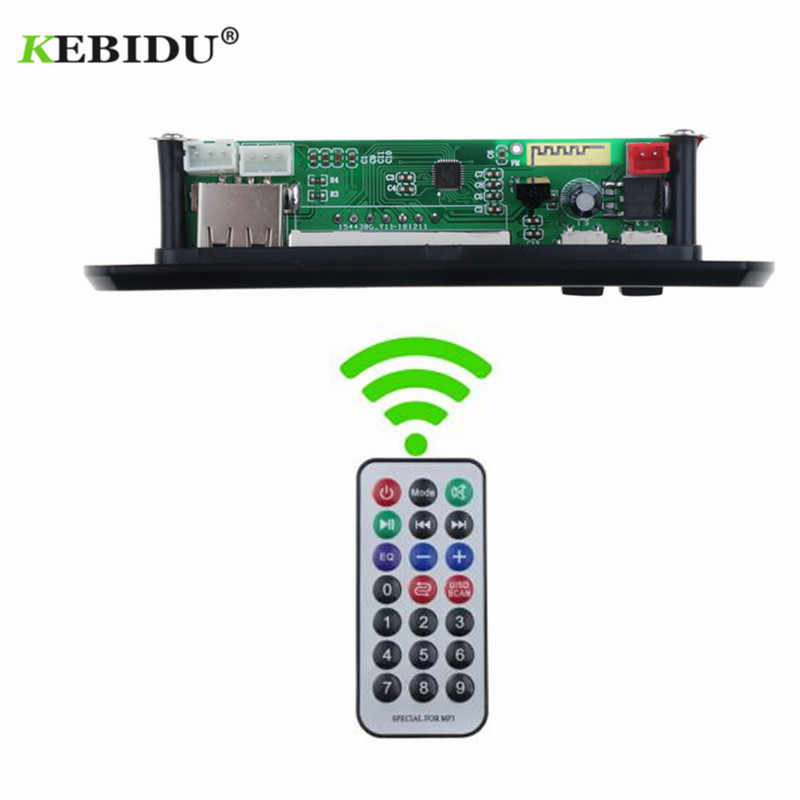 KEBIDU 5V 12V Bluetooth MP3 WMA FM AUX Scheda di Decodifica Audio Modulo FM TF Radio Automobile Auto MP3 altoparlante Accessori per auto