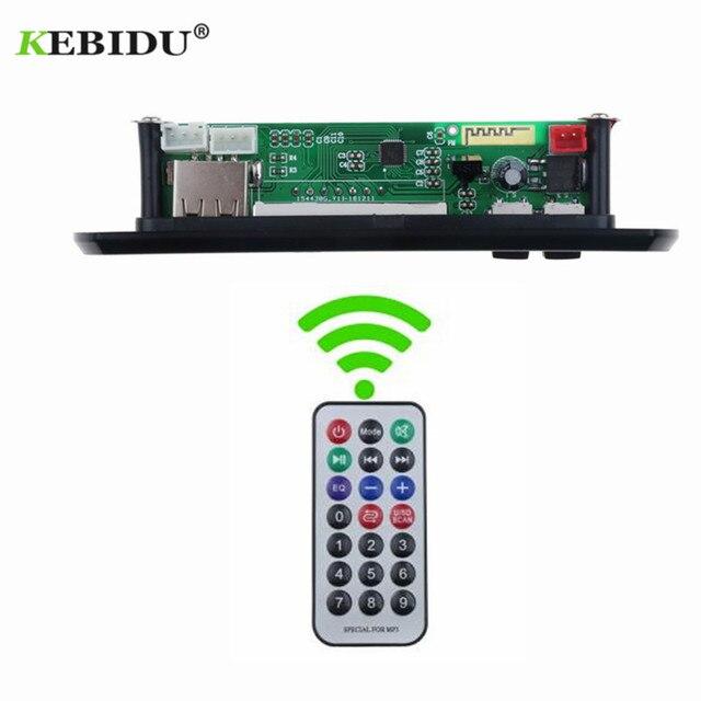KEBIDU 5V 12V Bluetooth MP3 WMA FM AUX décodeur Module Audio FM TF Radio Automobile voiture MP3 haut parleur accessoires pour voiture