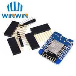 ESP8266 ESP-12 ESP-12F CH340G CH340 V2 USB WeMos D1 мини WI-FI развитию D1 мини NodeMCU Lua IOT доска 3,3 V с контакты