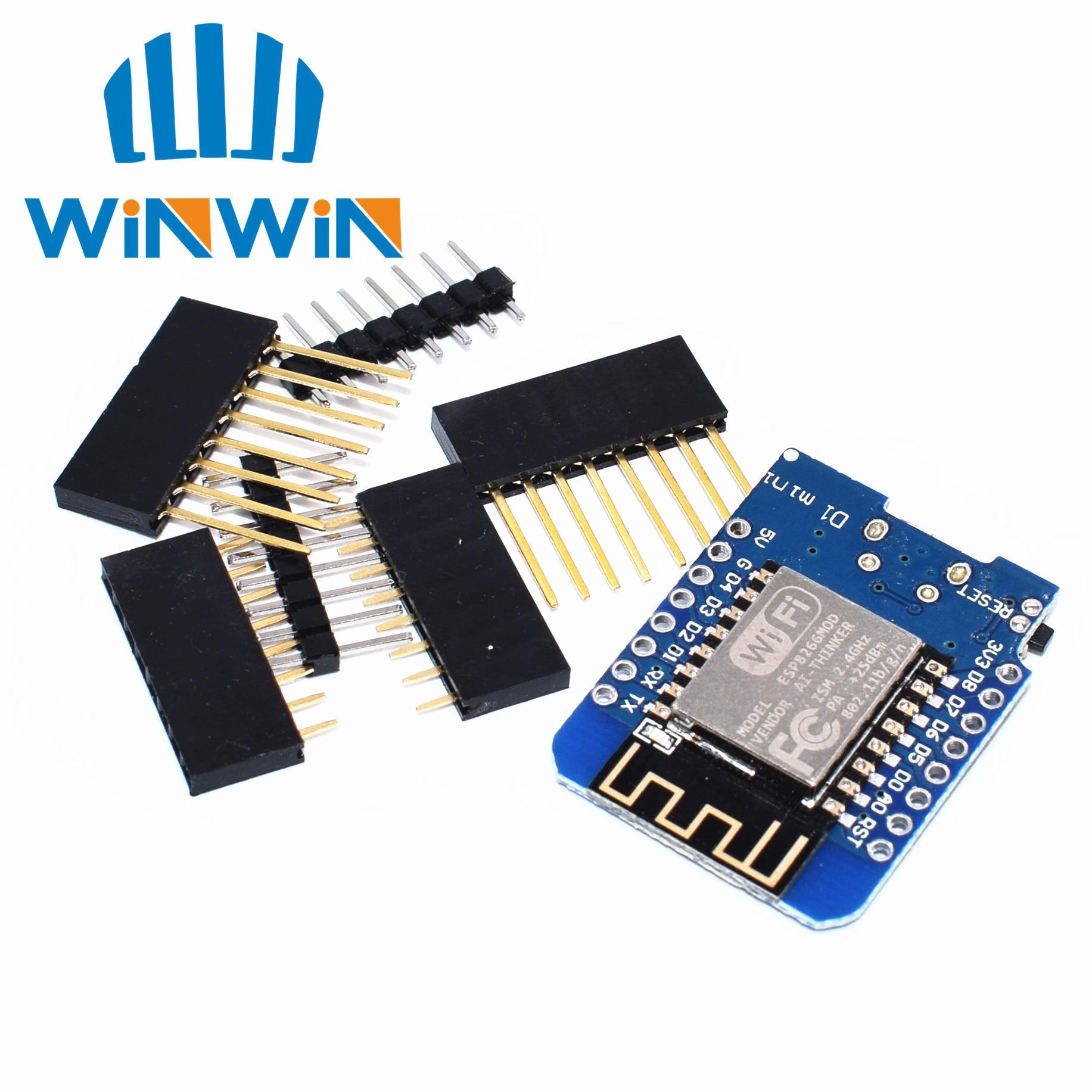 ESP8266 ESP-12 ESP-12F CH340G CH340 V2 USB WeMos D1 Мини Wi-Fi макетная плата D1 Мини NodeMCU Lua IOT плата 3,3 В с контактами