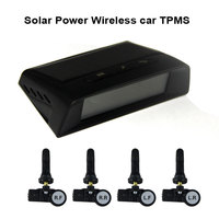 Solar Power Wireless car TPMS tire pressure monitor system with 4 Internal cap sensors 433.92Mhz
