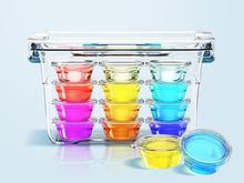 8181 Cristal à modeler conglutination pâte à modeler pour enfant non toxique De Noël cadeau pour enfant 6 couleur