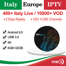 Italy Arabic France IPTV Italian ITHDTV HK1 MAX Android 9.0 BT Dual-Band WIFI Portugal Turkey