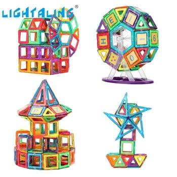 Big Size Magnetic Designer Construction Building Set Model Plastic Magnetic Blocks Educational Toys For Kids Gifts joylove 21 253pcs children s teaching aids mini magnetic designer construction set model