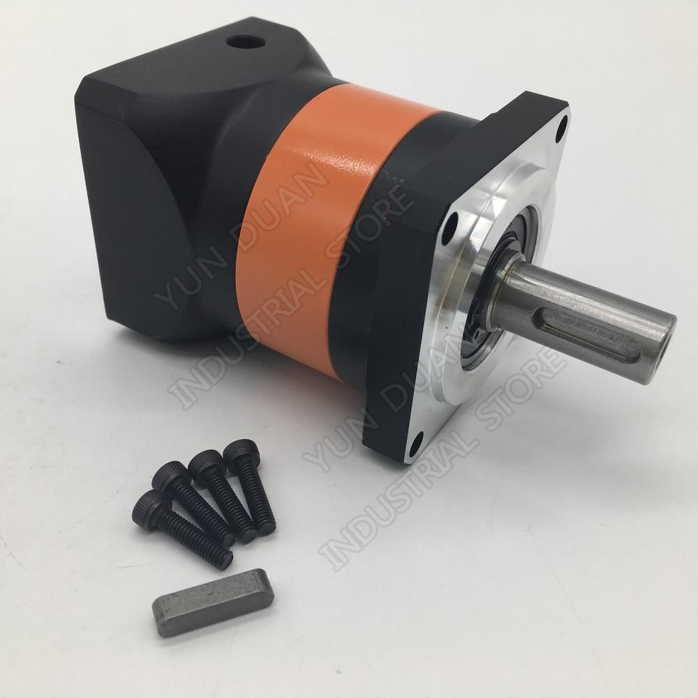 NEMA24 60mm Planetary  Gearbox 30:1 Ratio High Precision Mute 14mm Reducer for 200W 400W Servo Motor CNCNEMA24 60mm Planetary  Gearbox 30:1 Ratio High Precision Mute 14mm Reducer for 200W 400W Servo Motor CNC
