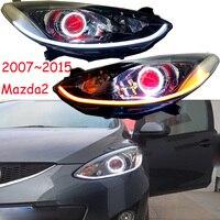 Автомобильный Стайлинг для Mazda 2 задний фонарь/Demio 2007 ~ 2011/2012 ~ 2015 Mazda2 светодиодные дневные ходовые огни на передних фарах hi lo луч H7 ксеноновые