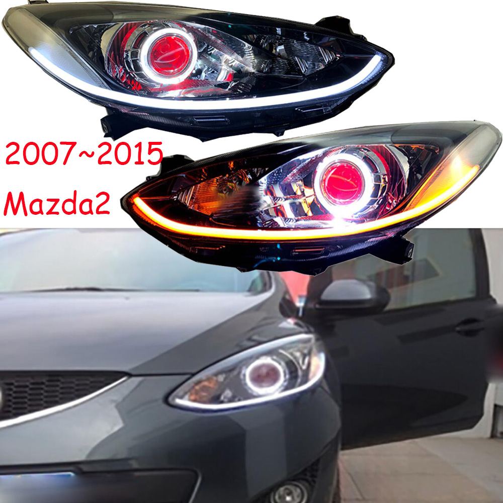 Car Styling for Mazda 2 Headlight Demio 2007~2011/2012~2015 Mazda2 Headlight LED DRL hi lo Beam H7 HID Xenon Car Accessories